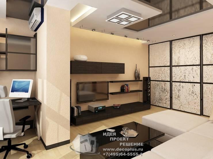 Дизайн бежевой гостиной в современном стиле: Гостиная в . Автор – Бюро домашних интерьеров