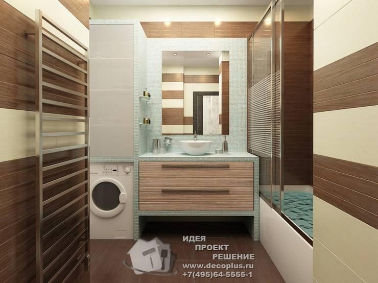 Фото ванной комнаты в квартире 45: Ванные комнаты в . Автор – Бюро домашних интерьеров