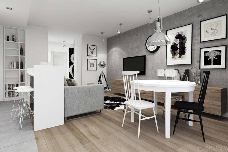 Projekt Białystok: styl , w kategorii  zaprojektowany przez Projektowanie Wnętrz Suspenzo
