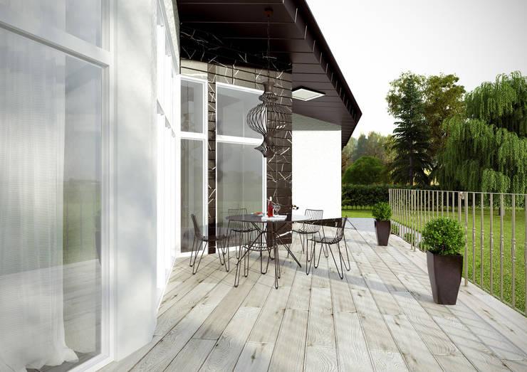 Загородный дом в поселке <q>Европейский</q>: Tерраса в . Автор – Architectural Bureau DAOFORM