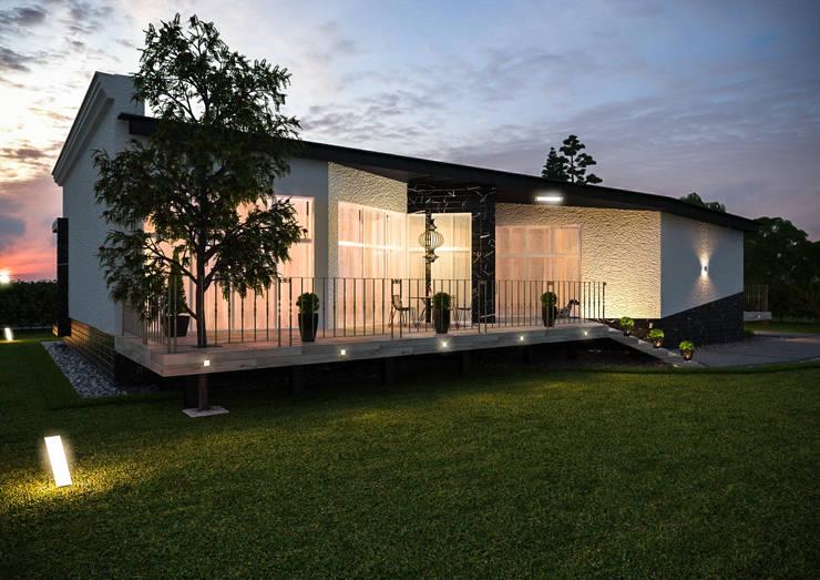 Загородный дом в поселке <q>Европейский</q>: Дома в . Автор – Architectural Bureau DAOFORM