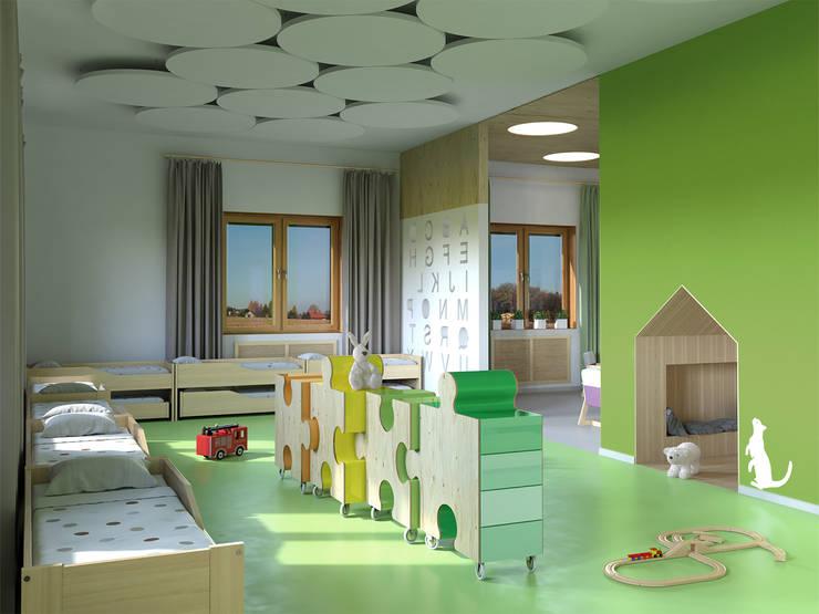 Kindergarten: Детские комнаты в . Автор – Architectural Bureau DAOFORM