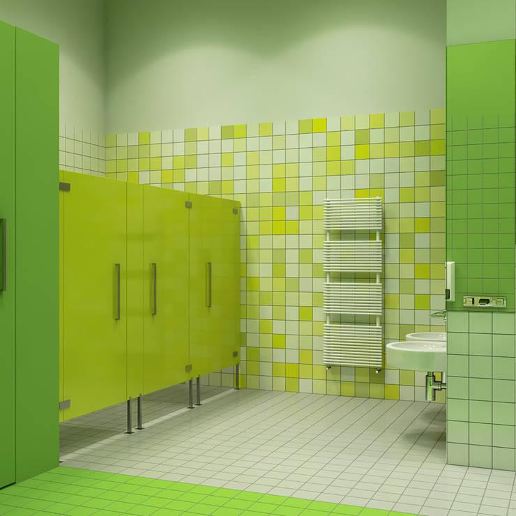 Kindergarten: Ванные комнаты в . Автор – Architectural Bureau DAOFORM
