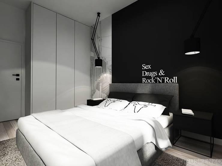 Sypialnia: styl , w kategorii  zaprojektowany przez Projektowanie Wnętrz Suspenzo