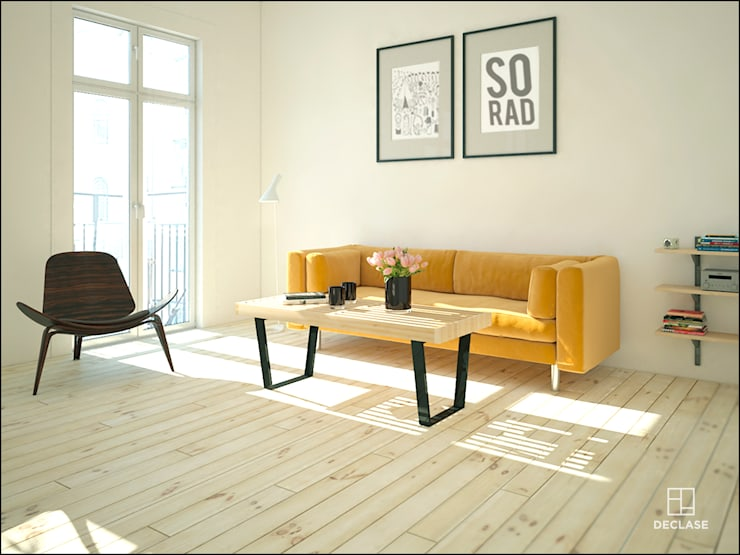 minimalistic Living room by DECLASE