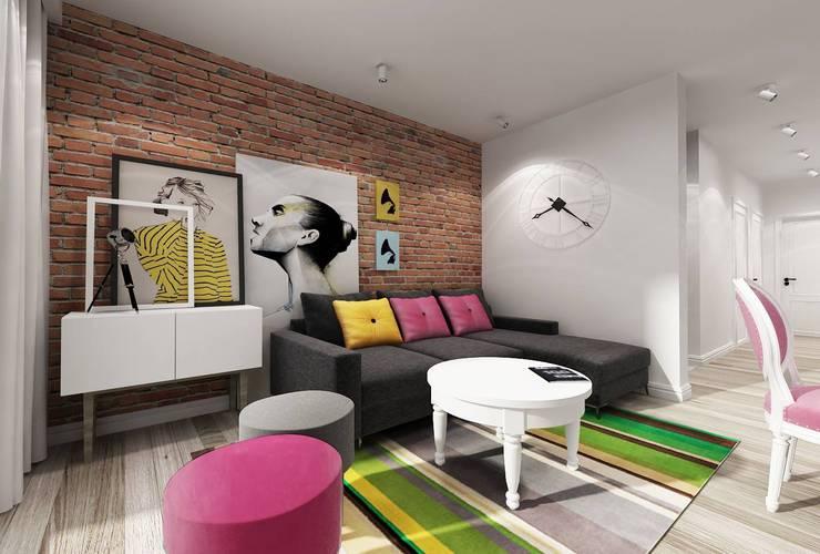 Mieszkanie Warszawa 2: styl , w kategorii  zaprojektowany przez Projektowanie Wnętrz Suspenzo