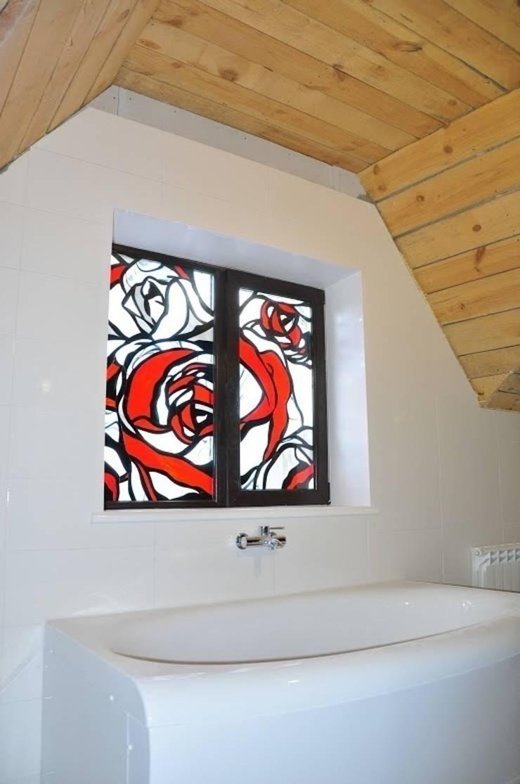 Работы: Окна и двери в . Автор – Витражная мастерская 'Гранат'