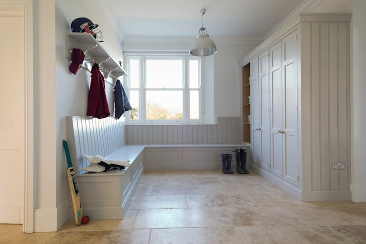 Ashurst House | Classic Contemporary Grey Painted Boot Room:  Kitchen by Humphrey Munson