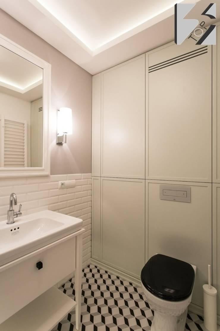 Meble na wymiar do apartamentu na warszawskiej Ochocie: styl , w kategorii Łazienka zaprojektowany przez 3TOP