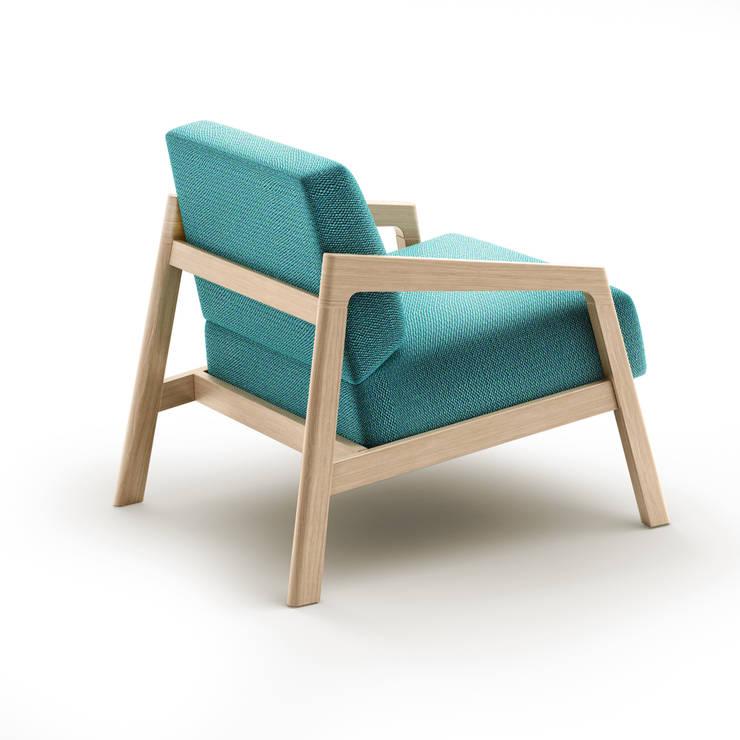 COIN armchair: styl , w kategorii Salon zaprojektowany przez Redo Design Studio Radosław Nowakowski