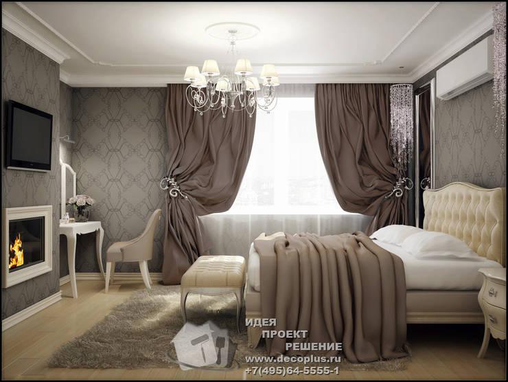 Фото интерьера спальни с элементами арт-деко: Спальни в . Автор – Бюро домашних интерьеров