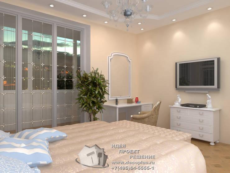 Дизайн бежевой спальни в квартире: Спальни в . Автор – Бюро домашних интерьеров,