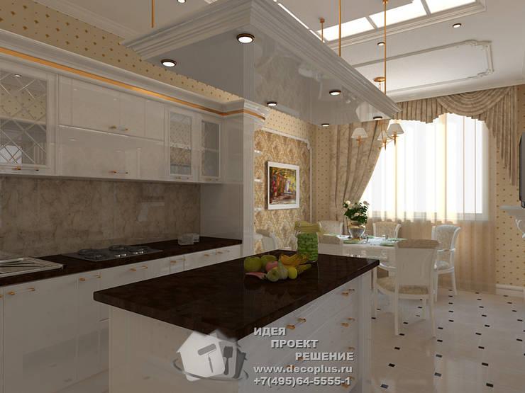 Бежевый и белый в интерьере кухни: Кухни в . Автор – Бюро домашних интерьеров,