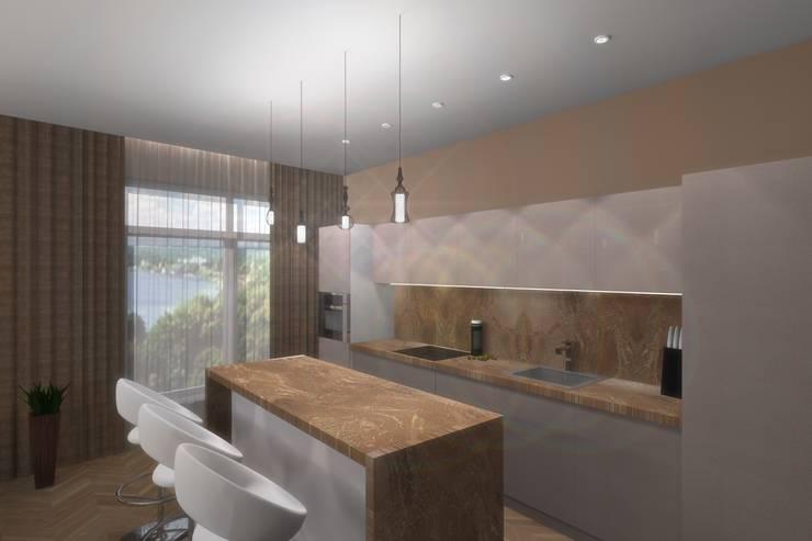 Кухня-столовая: Кухни в . Автор – АМСД