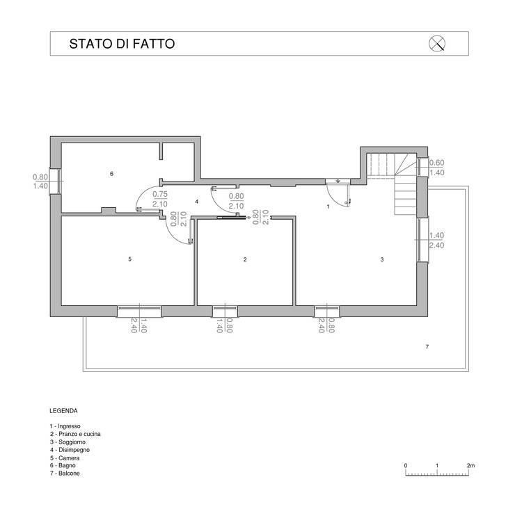 Casa G-F:  in stile  di QUADRASTUDIO