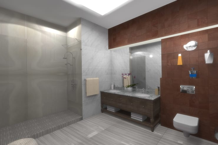 Ванная комната: Ванные комнаты в . Автор – АМСД