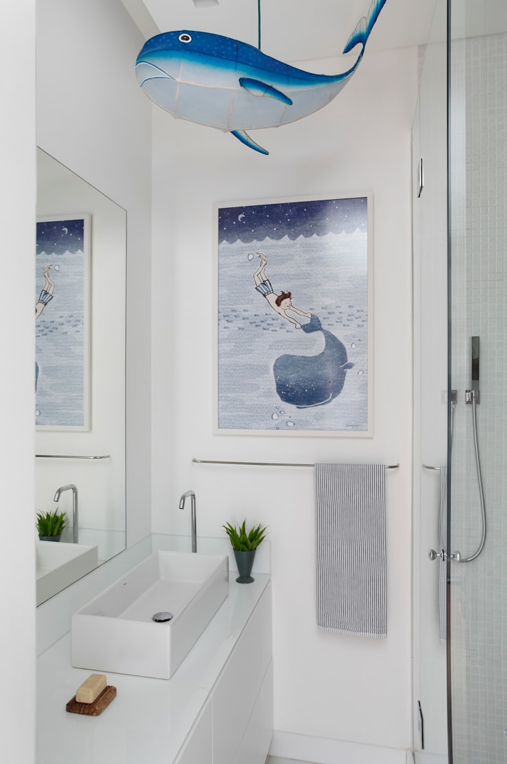 Apartamento Ipanema: Banheiros modernos por andre piva arquitetura