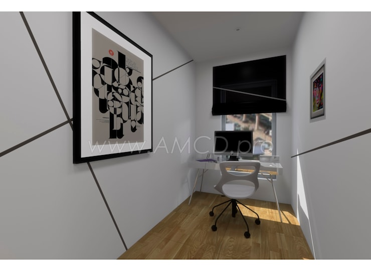 Рабочий кабинет: Рабочие кабинеты в . Автор – АМСД, Минимализм