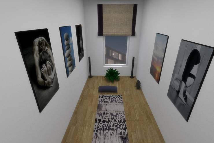 Комната для занятий йогой: Тренажерные комнаты в . Автор – АМСД, Минимализм