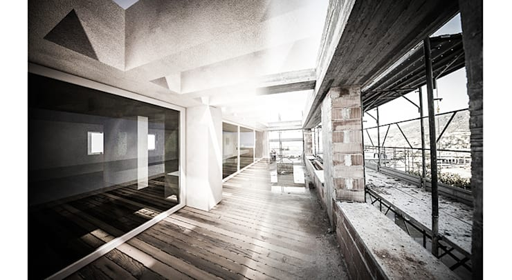 PRIVATE HOME IN PERUGIA - 2012|+315.50: Case in stile in stile Moderno di Cacciamani Diego Architetto