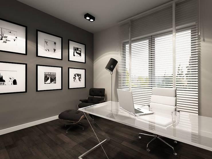 Gabinet Marka: styl , w kategorii  zaprojektowany przez Projektowanie Wnętrz Suspenzo,