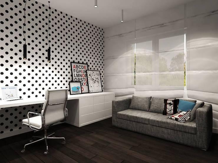 Gabinet Oli: styl , w kategorii  zaprojektowany przez Projektowanie Wnętrz Suspenzo