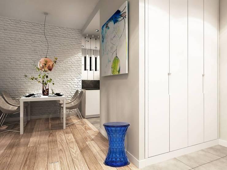 Mieszkanie tymczasowe: styl , w kategorii  zaprojektowany przez Projektowanie Wnętrz Suspenzo