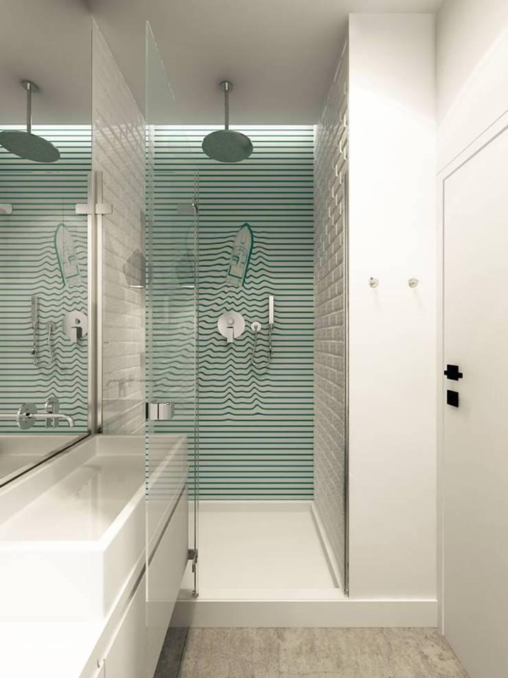 Żoliborz - łazienka: styl , w kategorii  zaprojektowany przez Projektowanie Wnętrz Suspenzo
