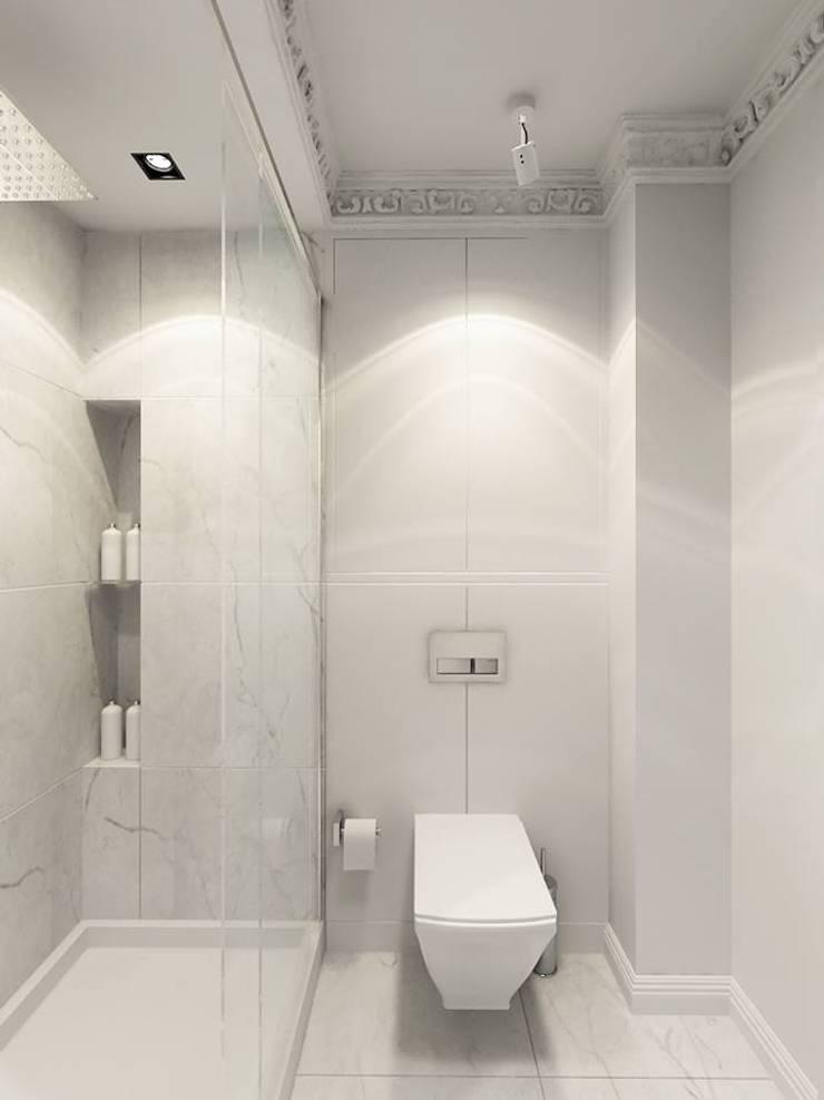 ul.Wiejska - gabinet i łazienka: styl , w kategorii  zaprojektowany przez Projektowanie Wnętrz Suspenzo