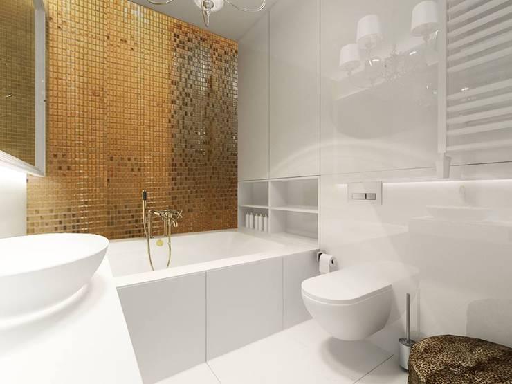 Złota z pazurem: styl , w kategorii  zaprojektowany przez Projektowanie Wnętrz Suspenzo
