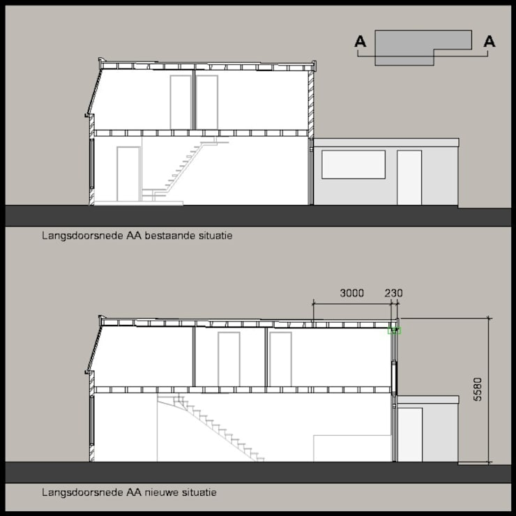 langsdoorsnede:   door PIER architecten