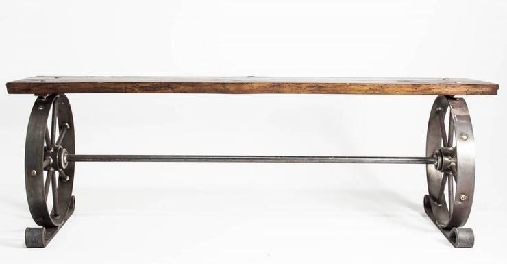 """Ławka stalowa """"TROLLEY"""": styl , w kategorii Ogród zaprojektowany przez NordLoft - Industrial Design"""