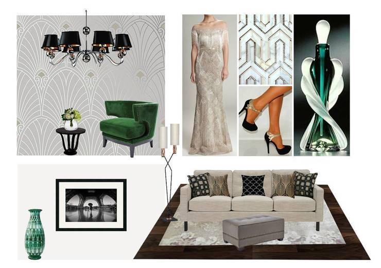 Концепция гостиной и столовой:  в современный. Автор – L'Essenziale Home Designs, Модерн