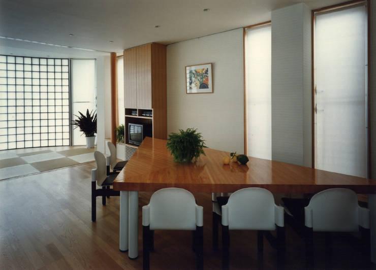 払方の家: 加藤將己/将建築設計事務所が手掛けたリビングルームです。