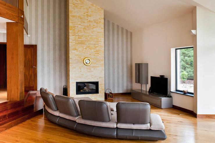Livings de estilo moderno de tomasz czajkowski pracownia Moderno