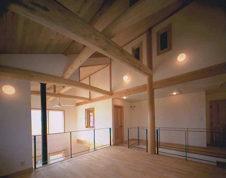 和邇の家(S邸新築工事): 有限会社 起廣プラン 一級建築士事務所が手掛けたリビングです。