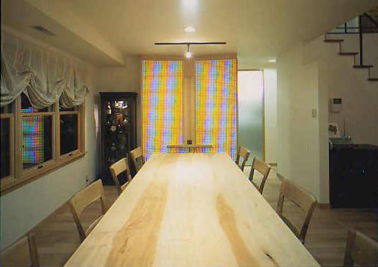 福島太夫の家(Y邸新築工事): 有限会社 起廣プラン 一級建築士事務所が手掛けたダイニングです。