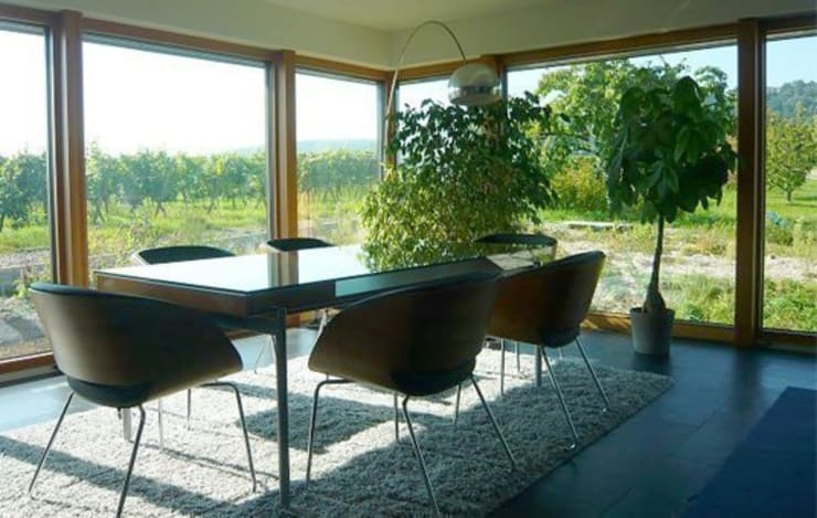 Faszination Haus  -  Passivhaus in Kleinkarlbach :  Esszimmer von Architekturbüro für Passiv- und Energieplushäuser