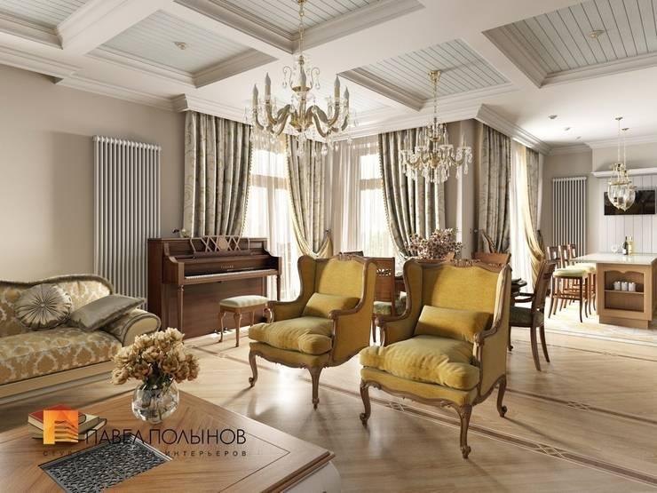 Классический стиль в интерьере квартиры в ЖК «Duderhof Club», 193 кв.м.: Гостиная в . Автор – Студия Павла Полынова,