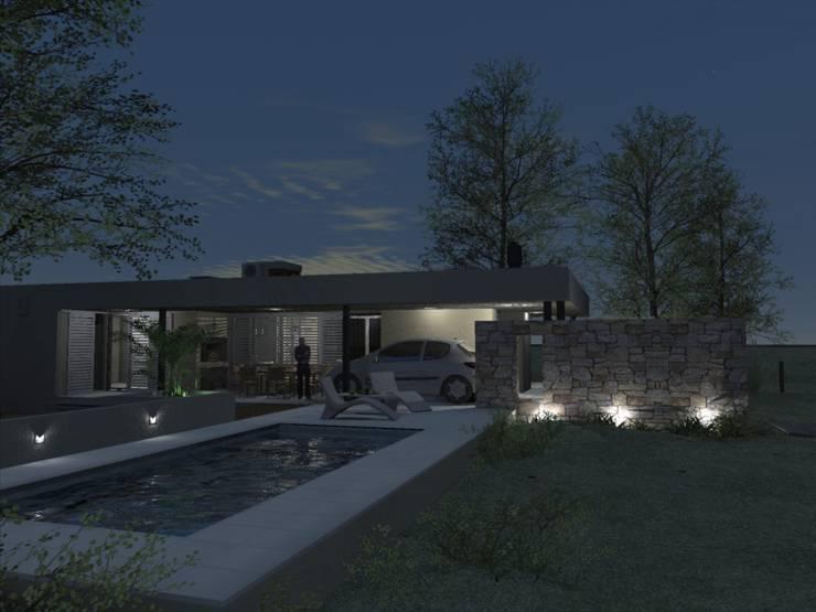 Casa D3 - RESIDENCIA DE FIN DE SEMANA: Casas de estilo  por D'ODORICO OFICINA DE ARQUITECTURA