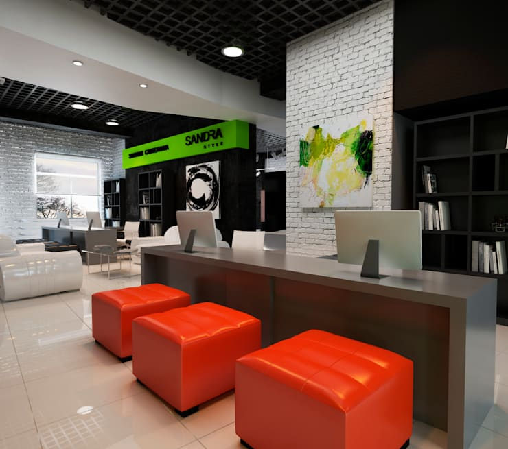 Sandra Style: Коммерческие помещения в . Автор – Sweet Hoome Interiors