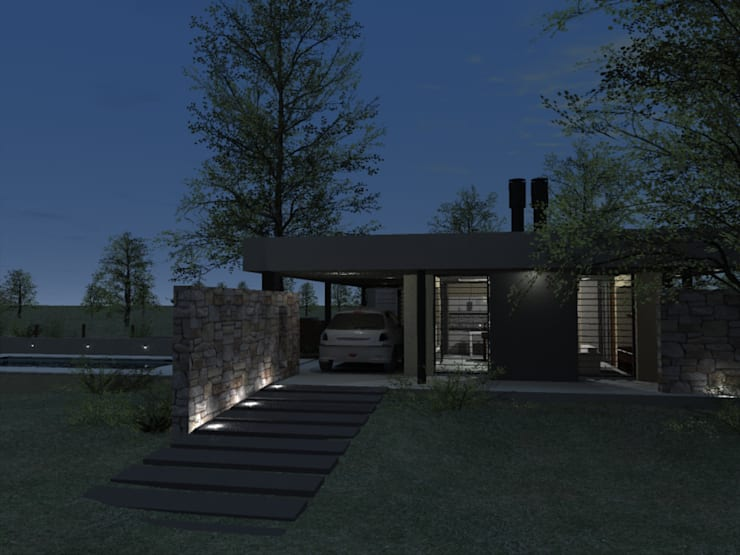 Casa D3 – RESIDENCIA DE FIN DE SEMANA: Casas de estilo  por D'ODORICO OFICINA DE ARQUITECTURA