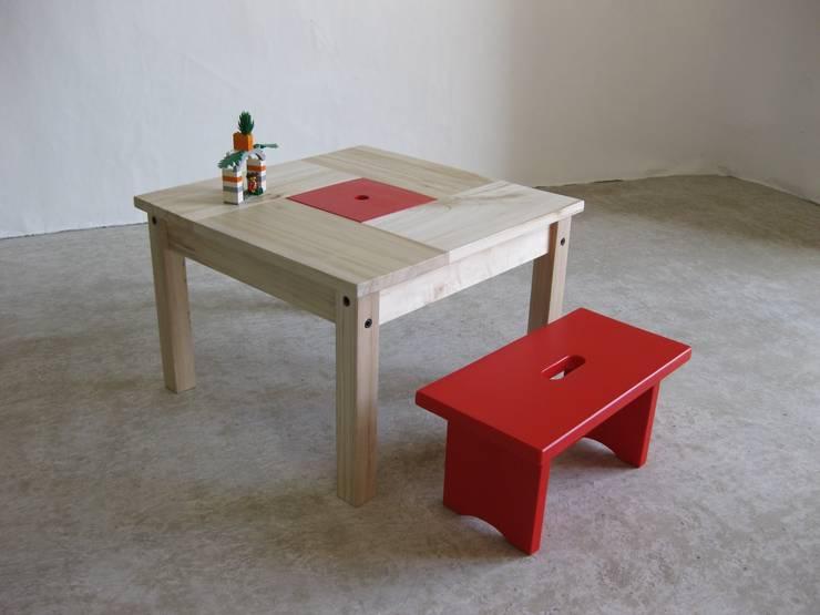 Table Enfant En Bois Avec Petit Banc Et Rangement Par Lartelier Homify