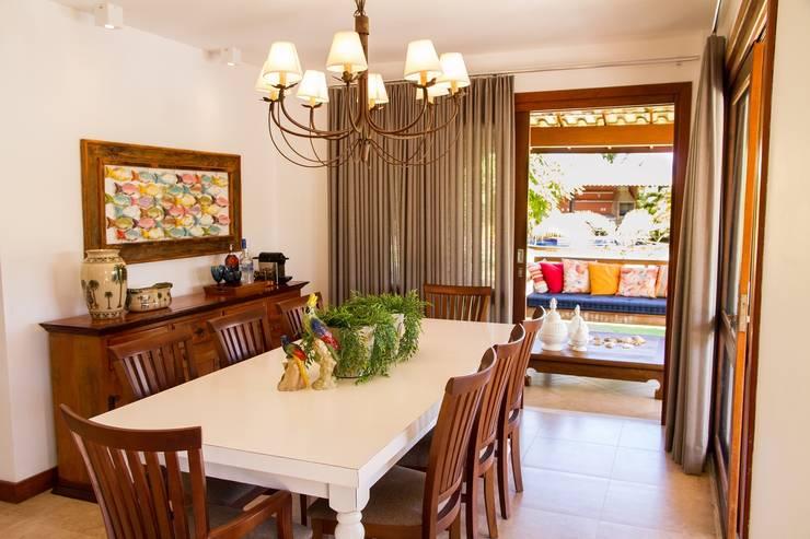 Sala de Jantar: Salas de jantar tropicais por Jamile Lima Arquitetura