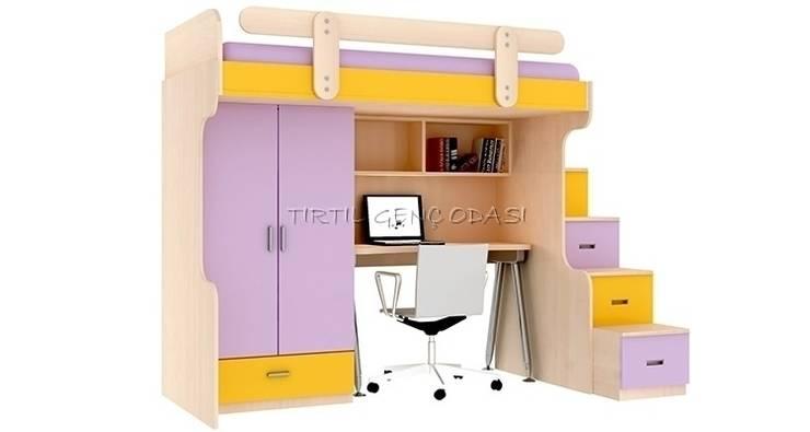 Tırtıl Genç ve Çocuk Odası – 13-04 Çalışma Masalı Ranza: modern tarz Çocuk Odası