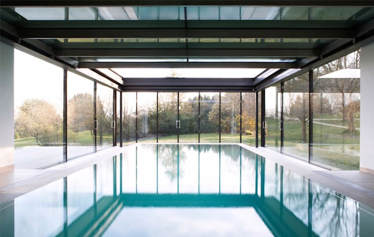 Stone House:  Pool by The Manser Practice Architects + Designers