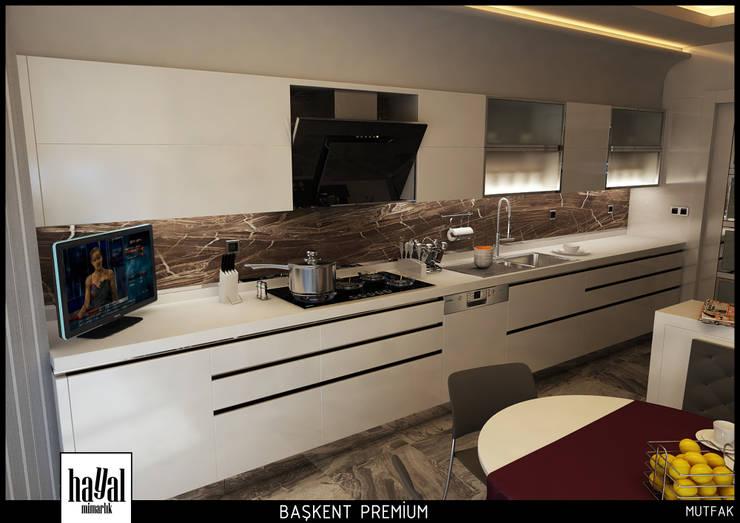 Hayal Mimarlık Mühendislik Proje İnş.San. Tic. Ltd.Şti. – Başkent Premium Örnek Daire:  tarz Mutfak
