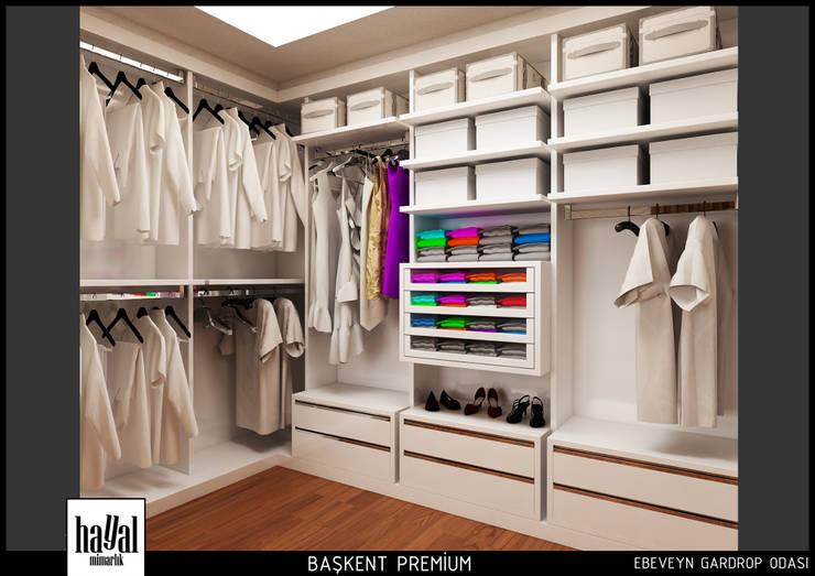 Hayal Mimarlık Mühendislik Proje İnş.San. Tic. Ltd.Şti. – Başkent Premium Örnek Daire:  tarz Giyinme Odası