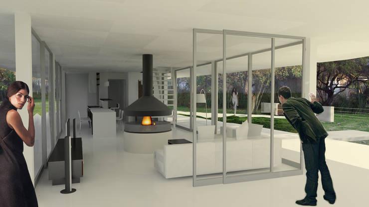 Casa RP – RESIDENCIA SUBURBANA: Casas de estilo  por D'ODORICO OFICINA DE ARQUITECTURA