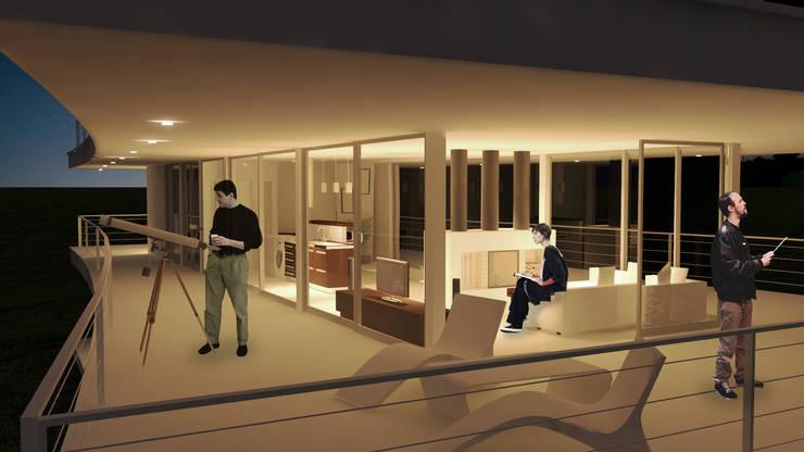 Casa RP – RESIDENCIA SUBURBANA: Casas de estilo moderno por D'ODORICO OFICINA DE ARQUITECTURA